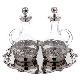 Set pareja vinajeras Venecia vidrio decoraciones a mano ml 200 s1