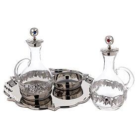 Set pareja vinajeras Venecia vidrio decoraciones a mano ml 200 s2