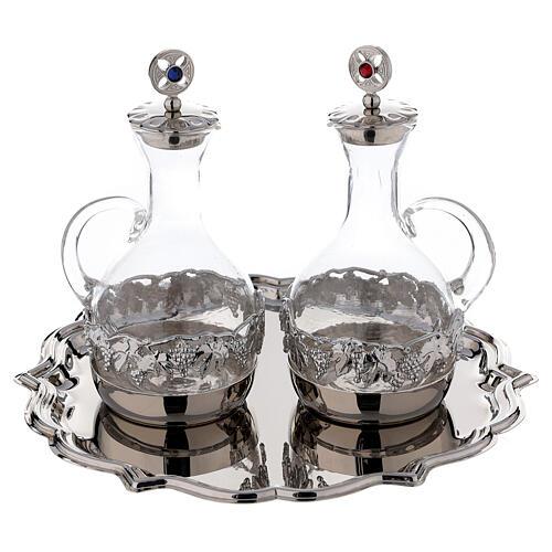 Set pareja vinajeras Venecia vidrio decoraciones a mano ml 200 1