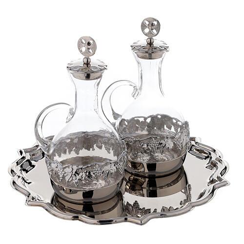 Set pareja vinajeras Venecia vidrio decoraciones a mano ml 200 3