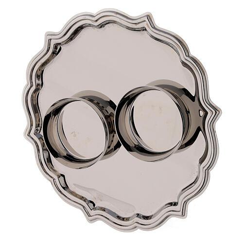 Set pareja vinajeras Venecia vidrio decoraciones a mano ml 200 4