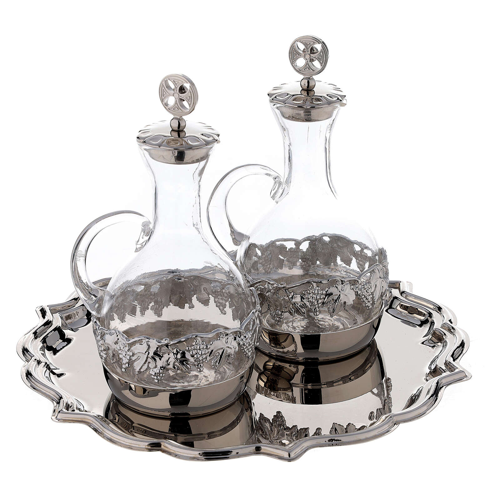Venise glass cruet set with decorated by hand 200 ml 4
