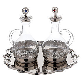 Venise glass cruet set with decorated by hand 200 ml s1