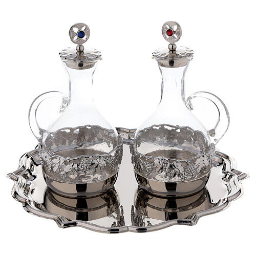 Venise glass cruet set with decorated by hand 200 ml 1