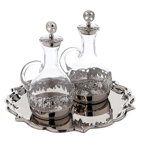 Venise glass cruet set with decorated by hand 200 ml 3