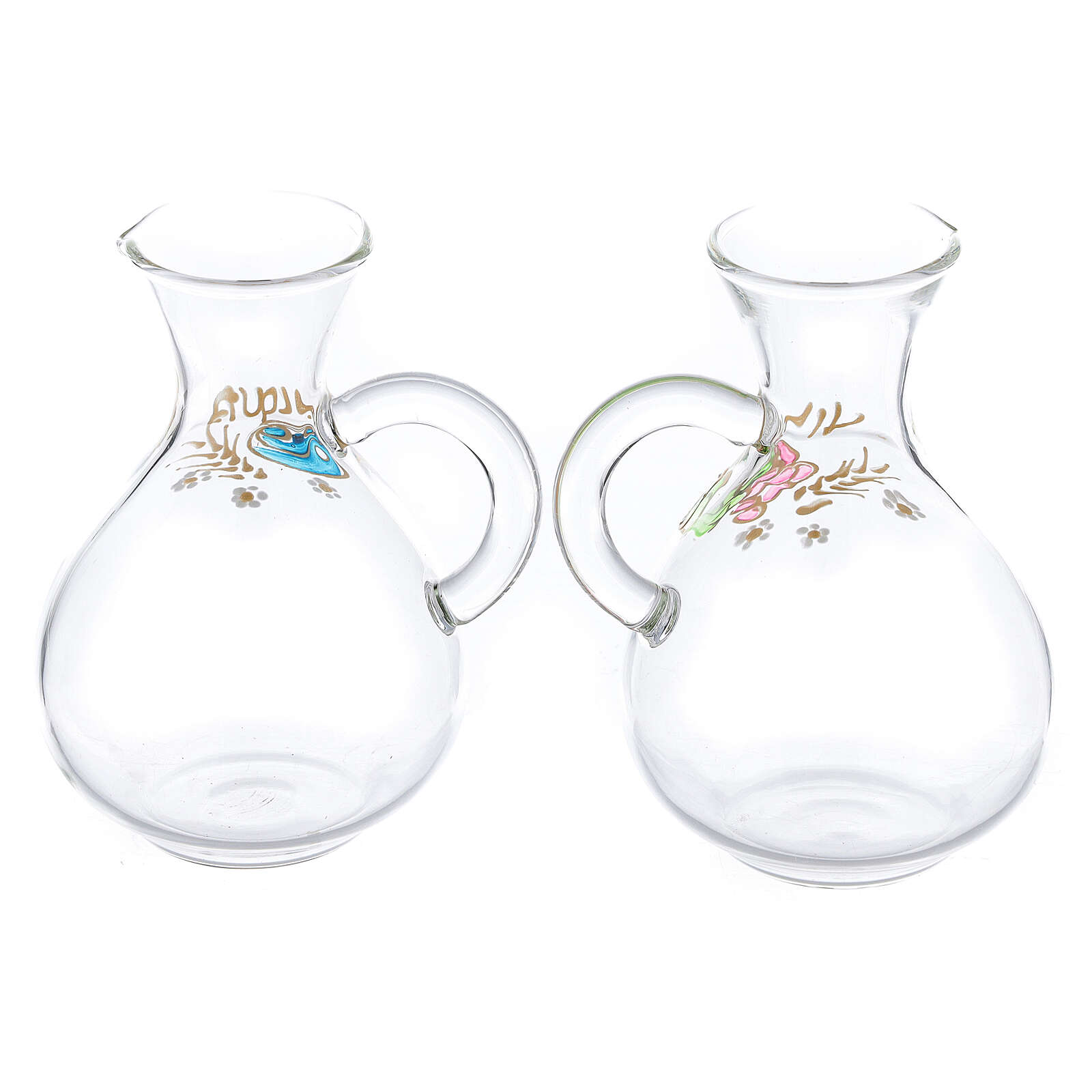 Water and wine Palermo ampoules in hand painted glass ml 140 4