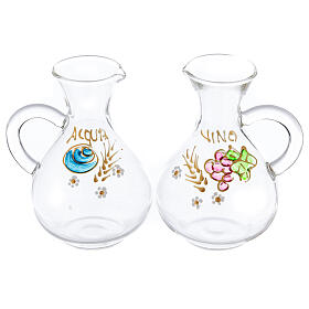 Water and wine Palermo ampoules in hand painted glass ml 140 s1