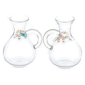 Water and wine Palermo ampoules in hand painted glass ml 140 s2