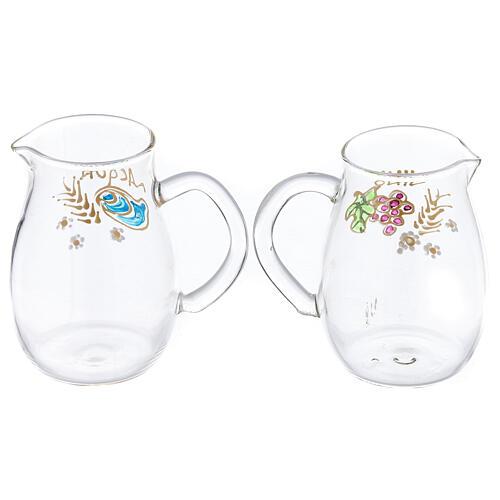 Set vinajeras Como de vidrio pintadas a mano ml 160 2