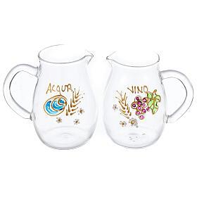 Set ampolline Como in vetro dipinte a mano ml 160 s1