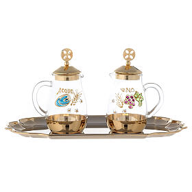 Set of Como cruet 24-karat gold plated brass 160ml s1