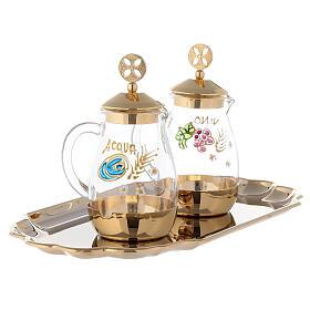 Set of Como cruet 24-karat gold plated brass 160ml s3