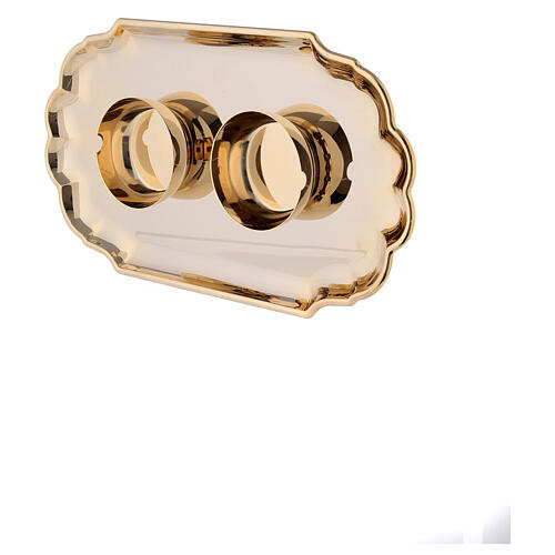 Set of Como cruet 24-karat gold plated brass 160ml 4