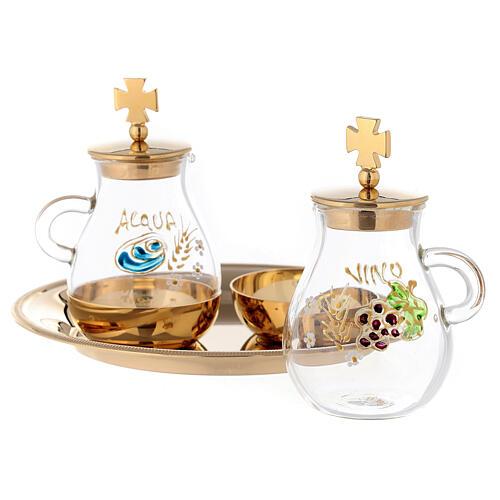 Set pour eau et vin modèle Bologne laiton doré 120 ml 2