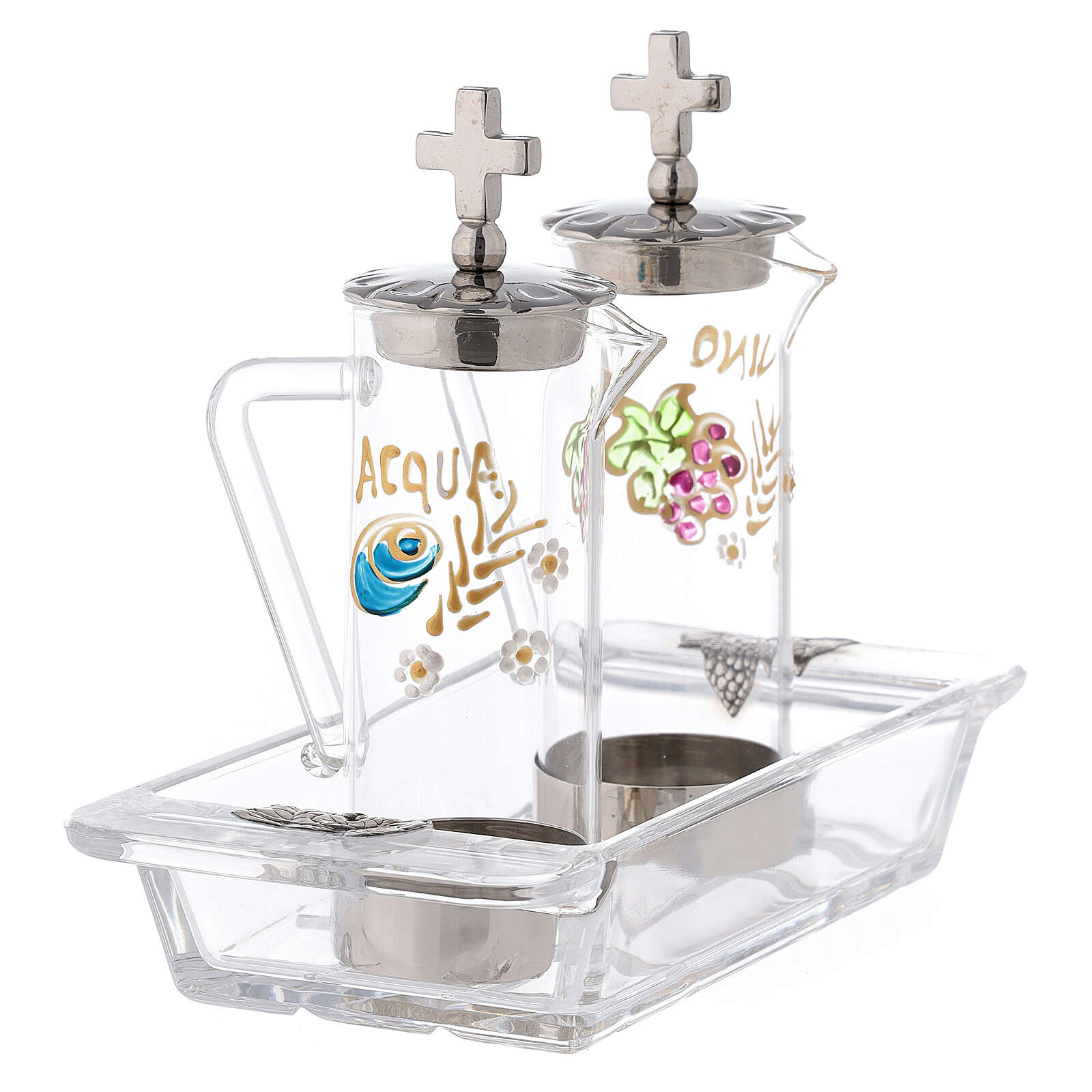 Coppia ampolline acqua e vino modello Ravenna ml 60 4