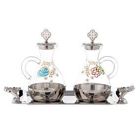 Palermo cruet set in silver-plated brass 140 ml s1