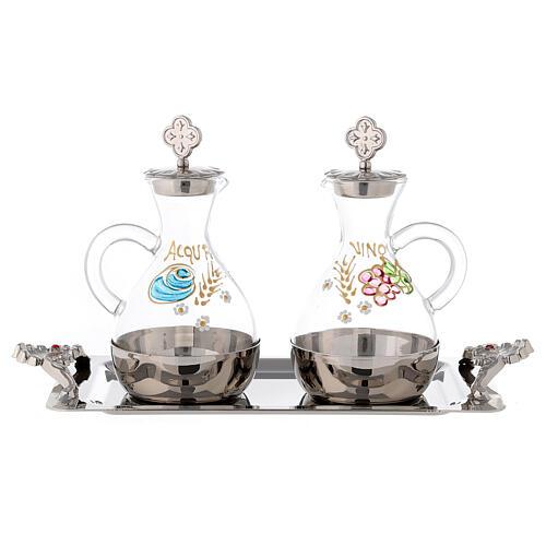 Palermo cruet set in silver-plated brass 140 ml 1