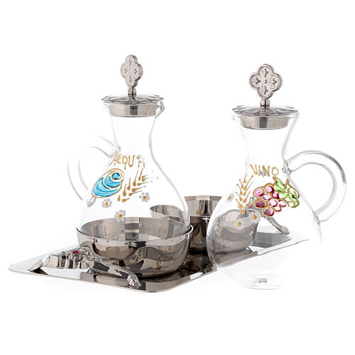 Palermo cruet set in silver-plated brass 140 ml 2