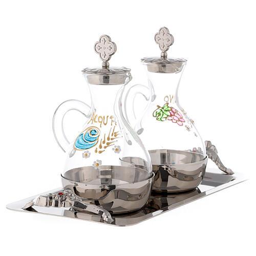 Palermo cruet set in silver-plated brass 140 ml 3