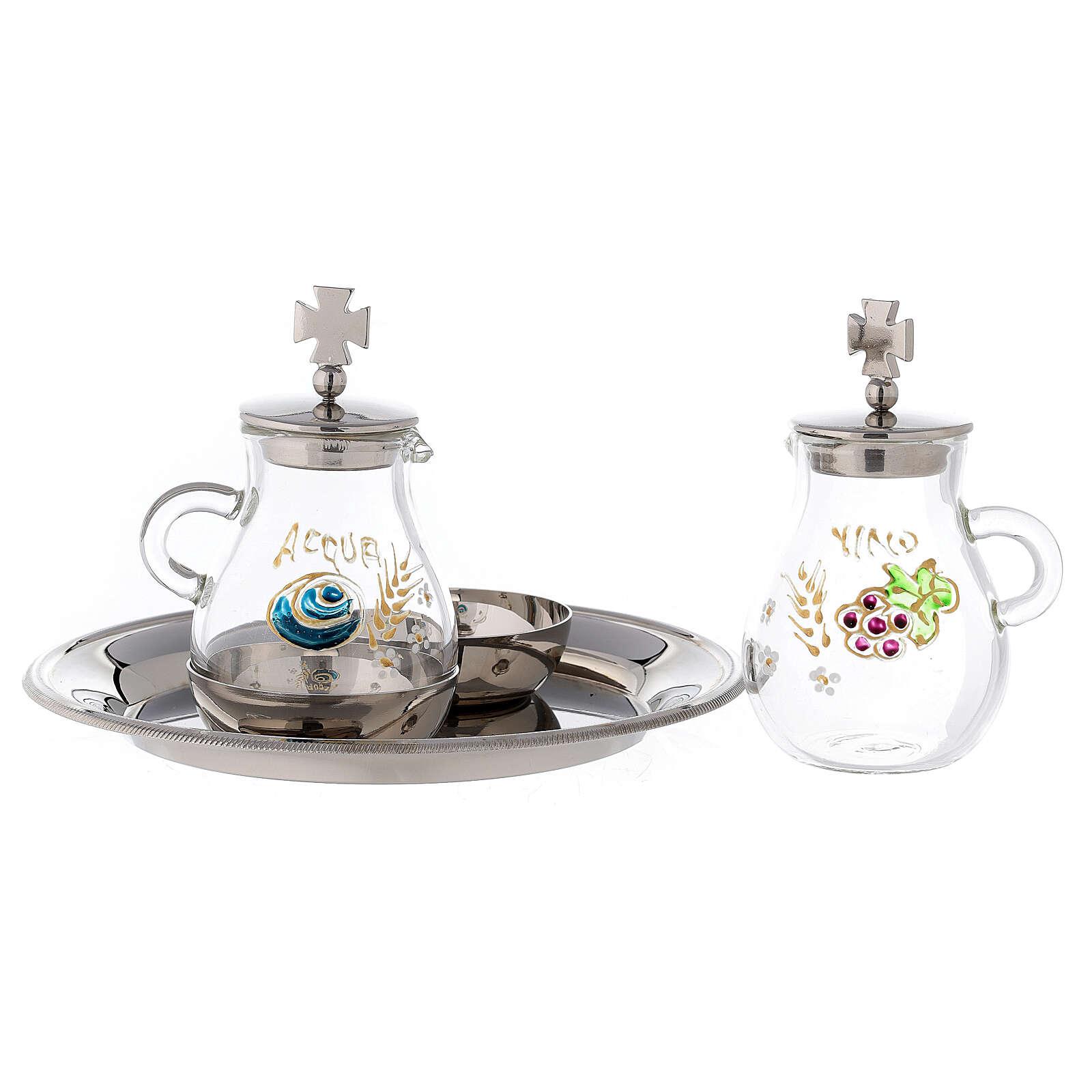 Bologna silver-plated brass cruets 120 ml 4