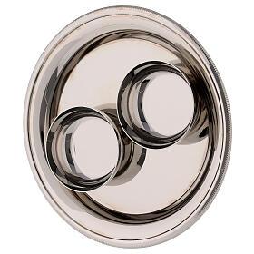 Bologna silver-plated brass cruets 120 ml s4