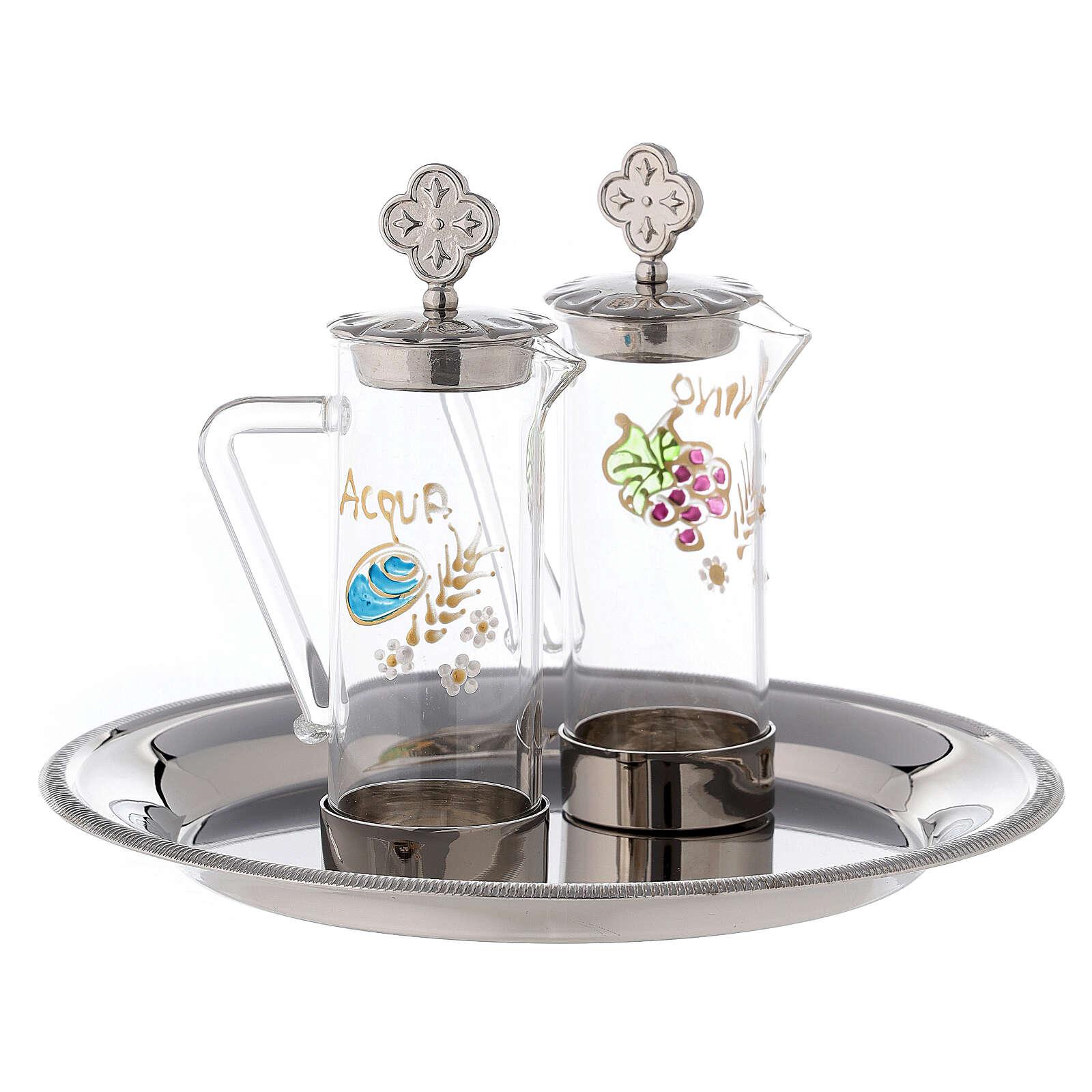 Set eau et vin liturgiques modèle Ravenne laiton 24K 60 ml 4