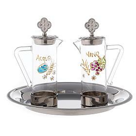 Set eau et vin liturgiques modèle Ravenne laiton 24K 60 ml s1