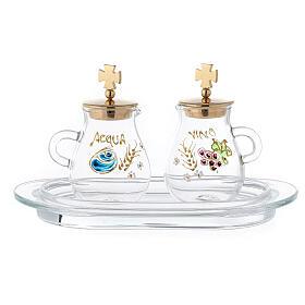 Pair of golden brass jugs model Bologna s1