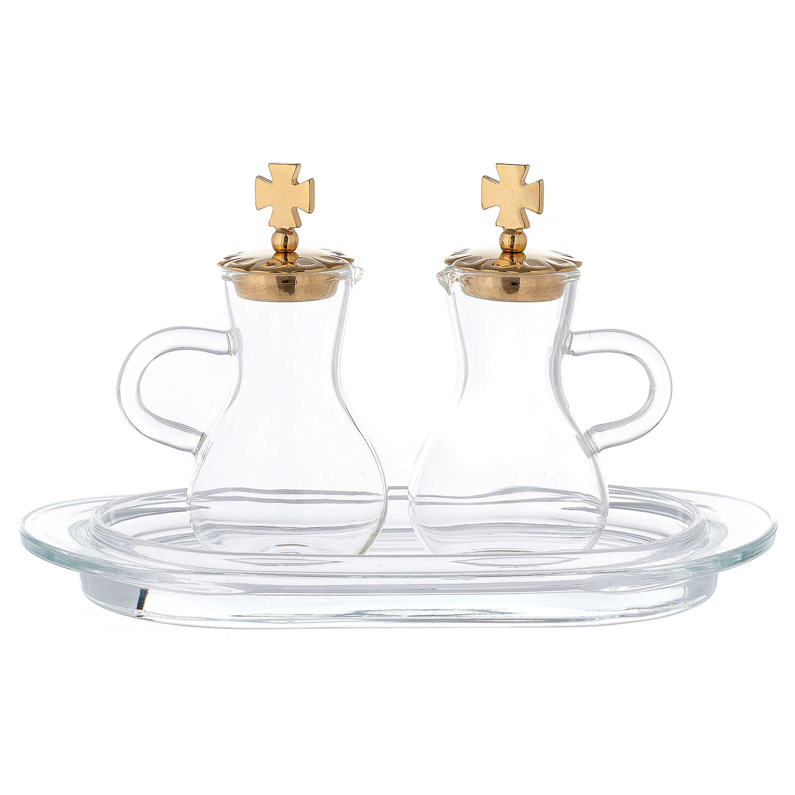 Parma cruets gold plated brass and glass 4