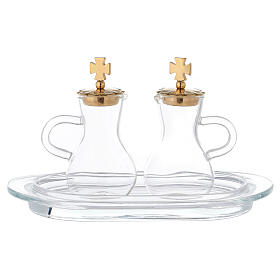 Parma cruets gold plated brass and glass s1