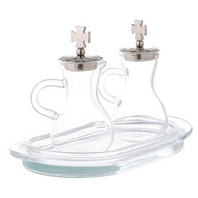Water and wine service zamak and glass model Parma s3