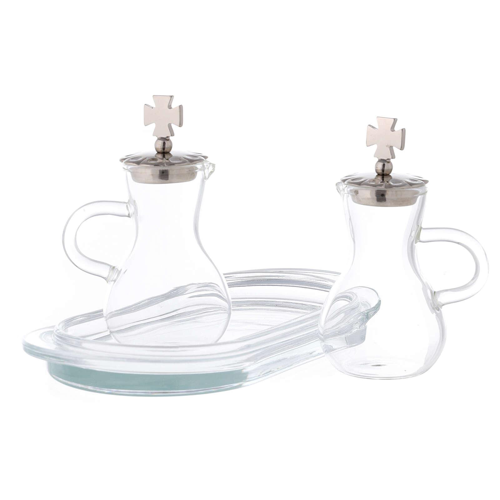 Set eau et vin zamak et verre modèle Parme 4
