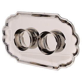 Water and wine service in silver plated brass model Como s4