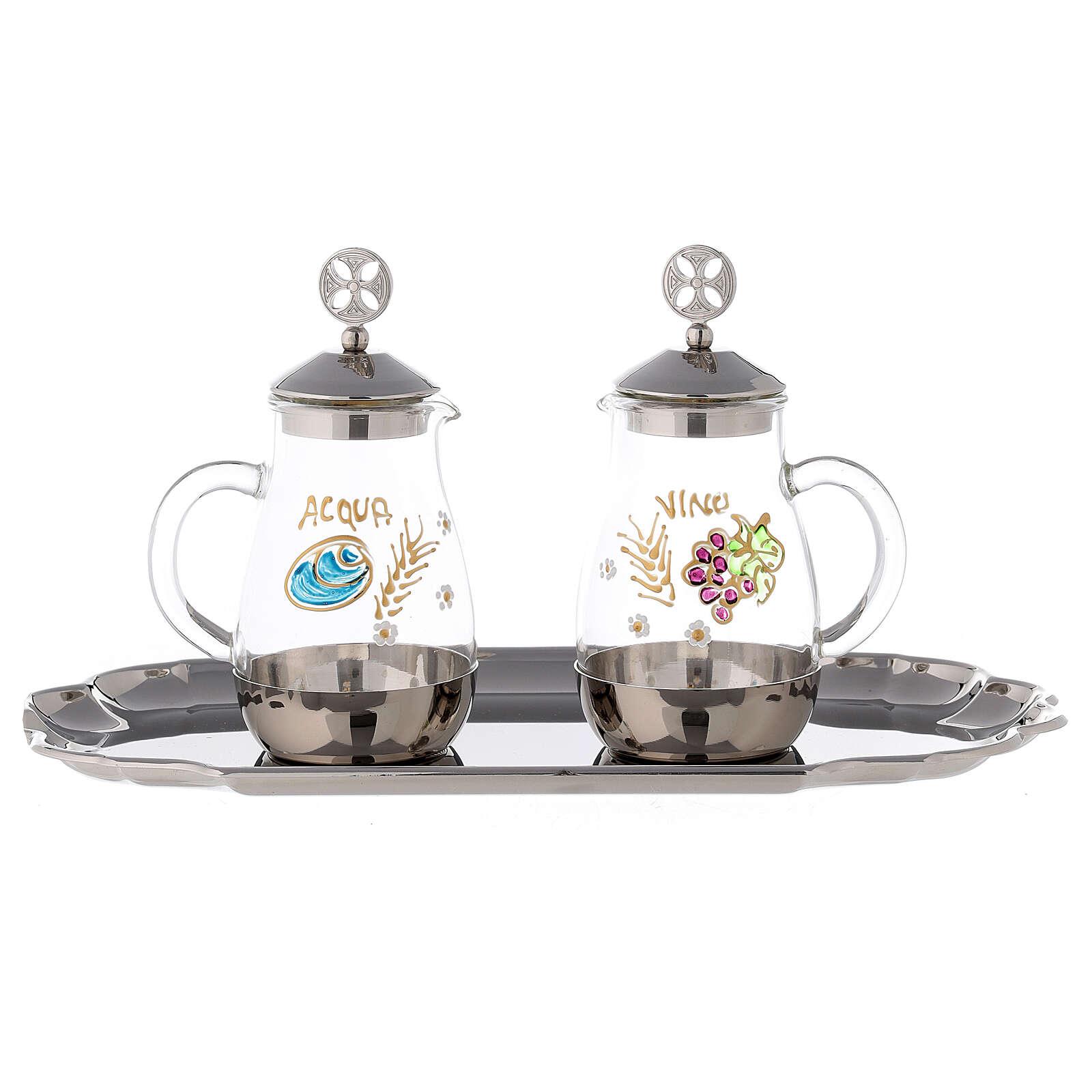 Como silver-plated brass cruets 160 ml 4