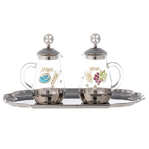 Como silver-plated brass cruets 160 ml 1