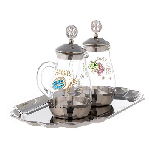 Como silver-plated brass cruets 160 ml 3