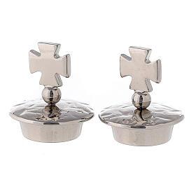 Pair of jug stoppers mod. Venezia-Roma silver Maltese cross s1