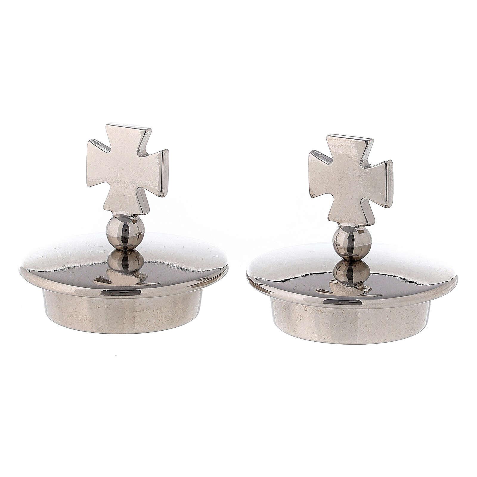 Coppia tappi croce di Malta per brocchette modello Roma 4