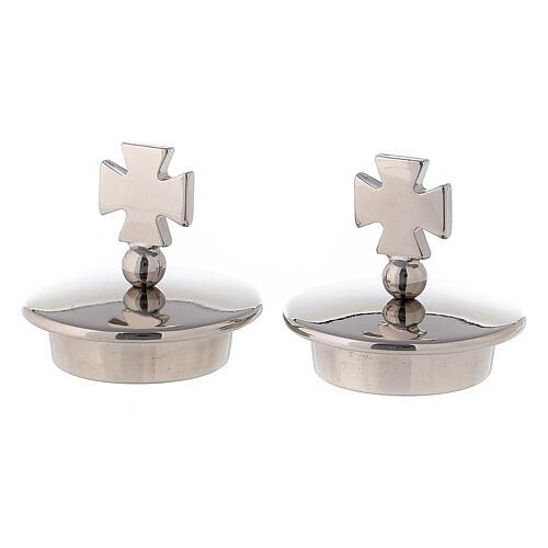 Coppia tappi croce di Malta per brocchette modello Roma 1