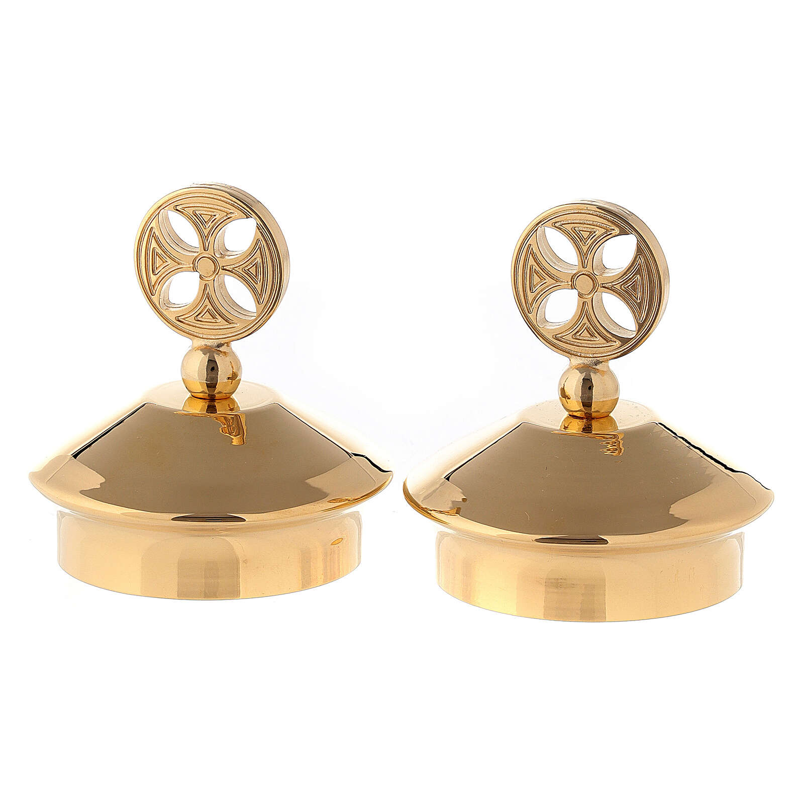 Set of lids for Fiesole-Como cruets gold plated brass 4