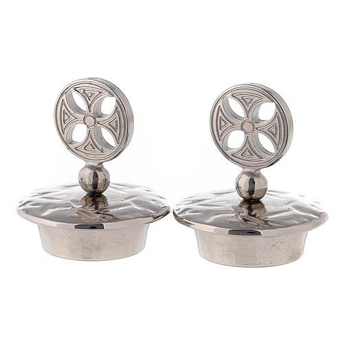 Pair of caps for round cross Venezia-Roma model jugs 1