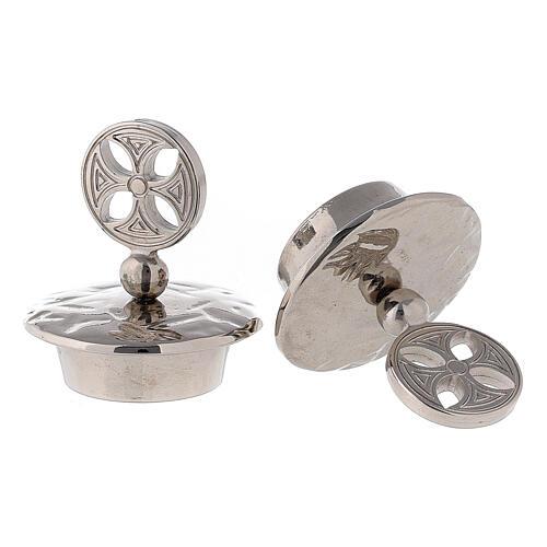 Pair of caps for round cross Venezia-Roma model jugs 2