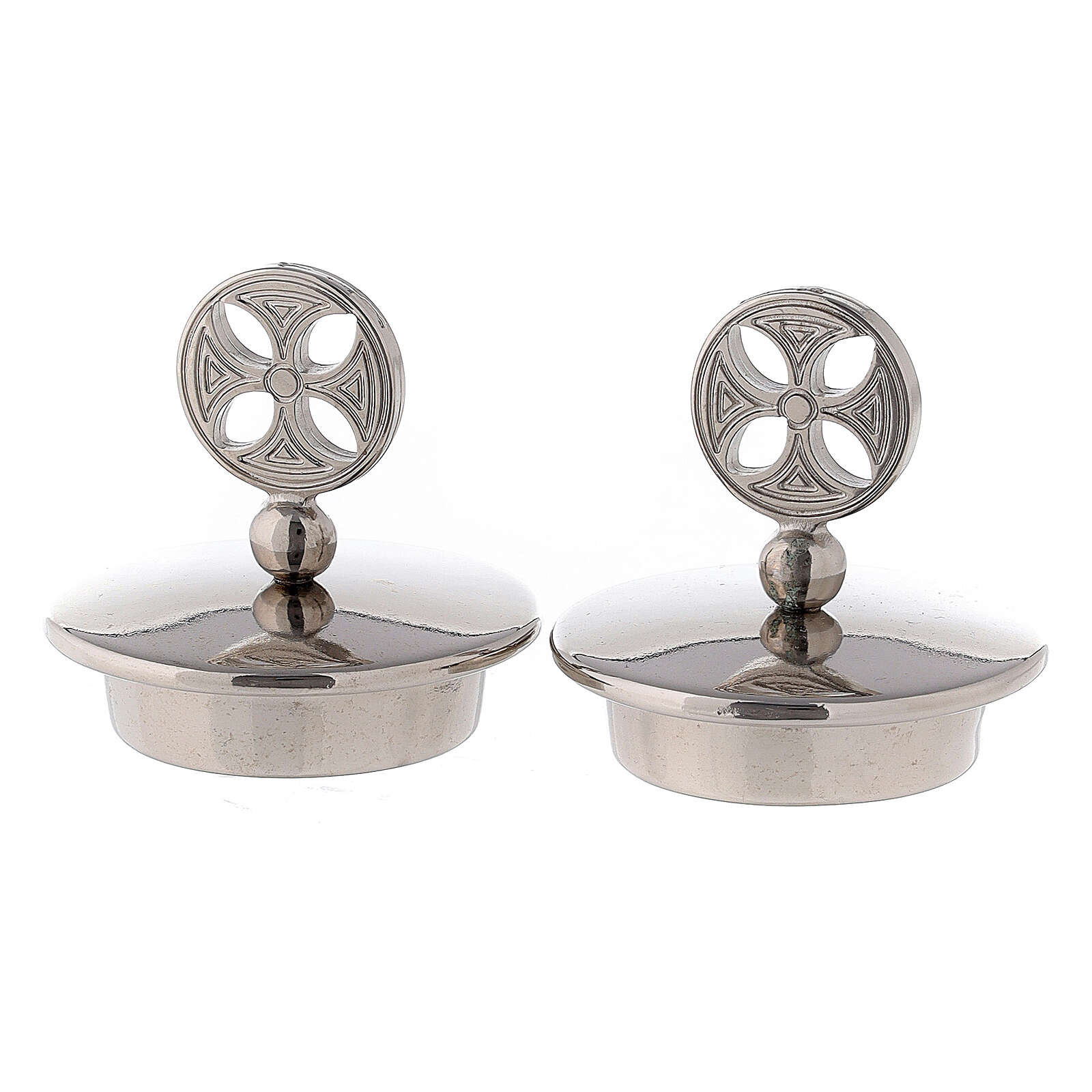 Pair of 24K silver plated brass caps for Bologna model 4