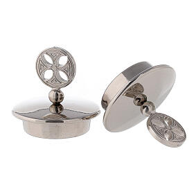 Pair of 24K silver plated brass caps for Bologna model s2