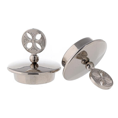 Pair of 24K silver plated brass caps for Bologna model 2