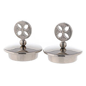 Silver-plated brass lids for Bologna cruets s1