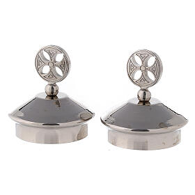 Pair of round cross caps for Fiesole-Como model jugs s1