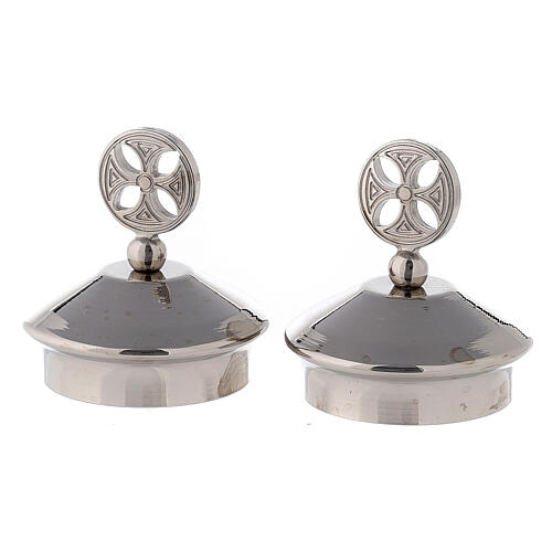 Pair of round cross caps for Fiesole-Como model jugs 1