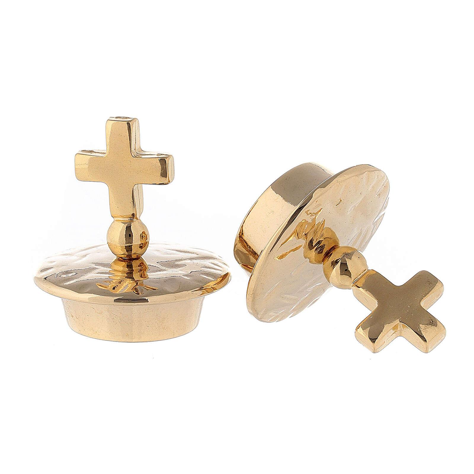 Pareja tapones cruz simple para vinajeras mod. Venecia-Roma 4