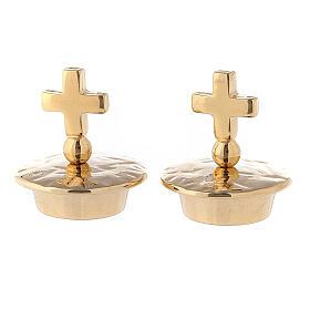 Coppia tappi croce semplice per brocchette mod. Venezia-Roma  s1